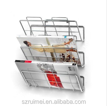 Wall Mounted 3 Tiers Newspaper Rack