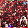 2017 custom printed red camouflage CVC custom printed spandex fabric for clothes