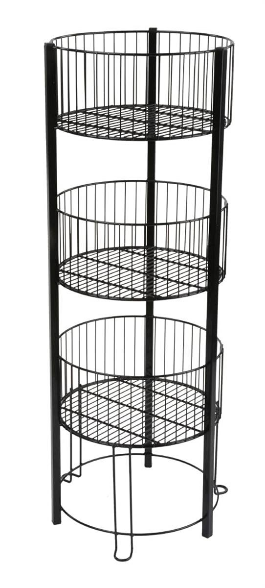 Get Quotations Displays2go 3 Tiered Wire Dump Bin For Floor 16 Inch Round Storage Basket Stand
