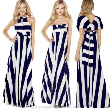 6e440cad7b new stripe maxi dress in different designs sexy women striped Evening Party  Formal Ball gown Long