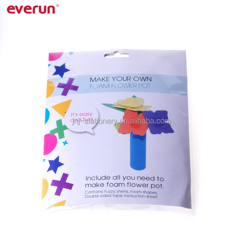 1set Creative Flower Pot Potted EVA Children Hand Material Production Materials