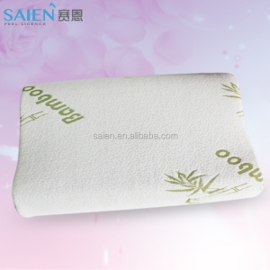 Wholesale price Contour bed rest bamboo non shredded memory foam pillow