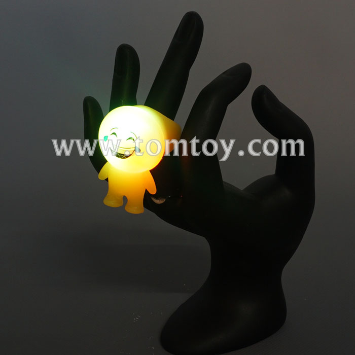 Tomtoy Emoji LED Flashing Light Up Jelly Rings