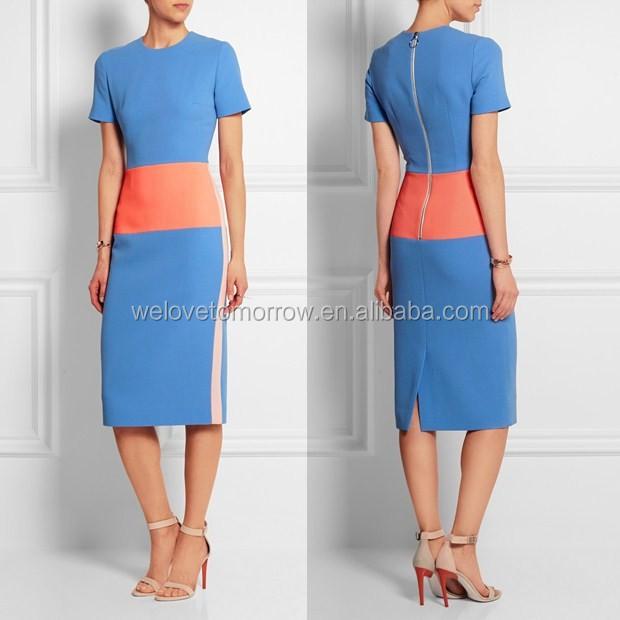 b7fcda3bd17b26 Whosale vrouwen mode korenbloem- blauw neon- koraal en pastel- roze wol  slim ingerichte