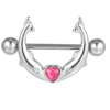 Right Grand Jewelry Shop Short Bar Large Steel Pink Nipple Ring Piercing