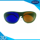 Plastic Blue Brown 3D Glasses Cyan polarizer eyewear