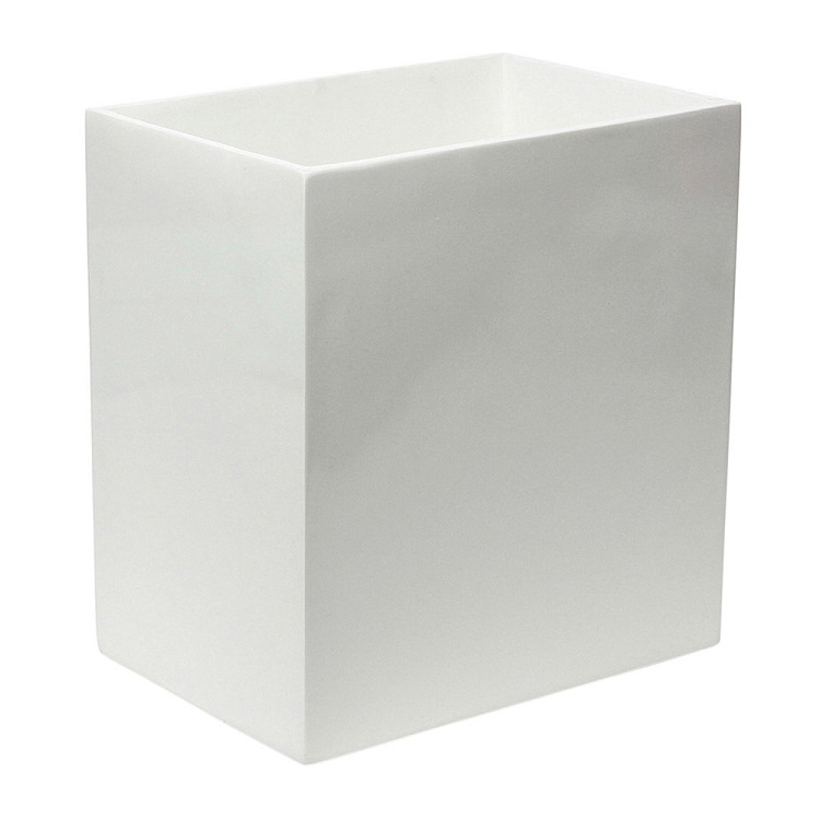 Wholesale White Hotel Decorative Resin Bathroom Waste Paper Bins