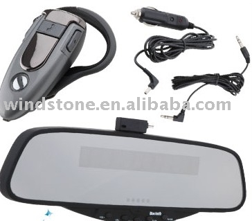 Hands free Rearview Earpiece Bluetooth Kit Car Mirror