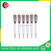 Promotional white plastic gel pen ,print logo