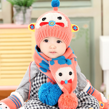 Tsw6008 Korean Baby Boy Baby Girl Cute Winter Scarves Hats Gloves ... aaedd2f0fea