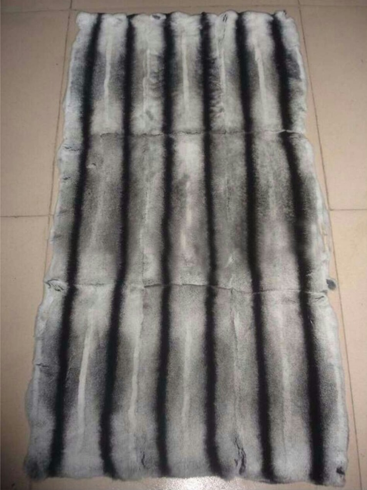 top Quality Rex Rabbit Fur Plate with dyeing rex chinchilla