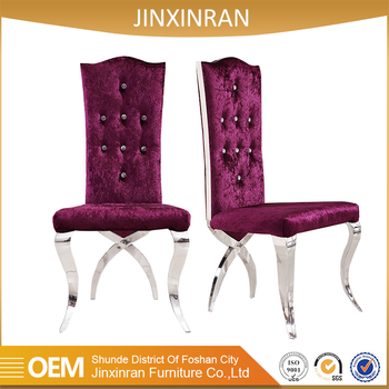 Beautiful purple color chair used hotel wedding chairs for sale