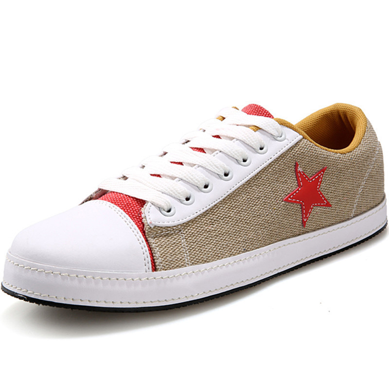 New 2015 Woman Mens Canvas Shoes Casual Shoes Unisex Flats Breathable Lace Up Canvas Shoes Sapatos Sapatilhas Brown Size 36-44