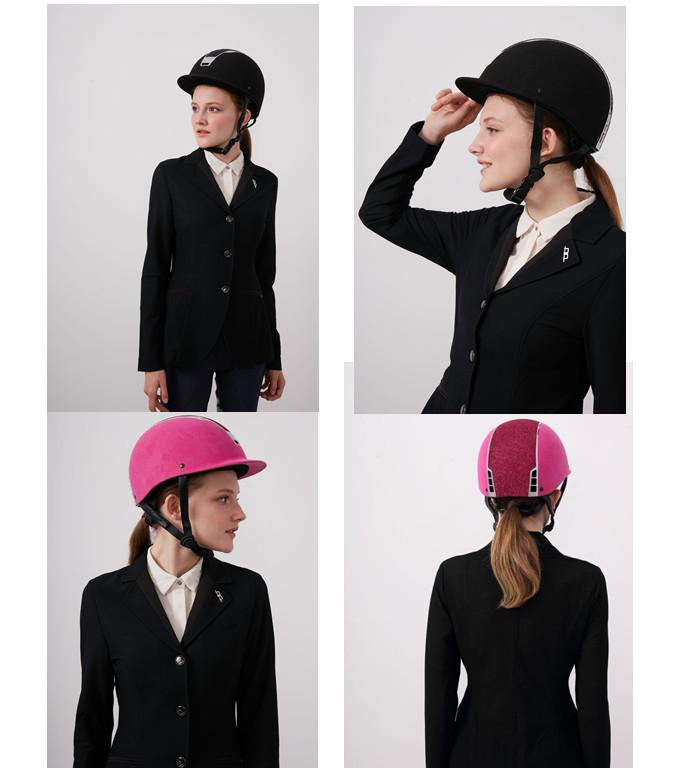 Navy-blue-velvet-stardust-horse-riding-helmet
