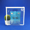 White Zipper Round Corner Clear Plastic Bag For Facial Mask