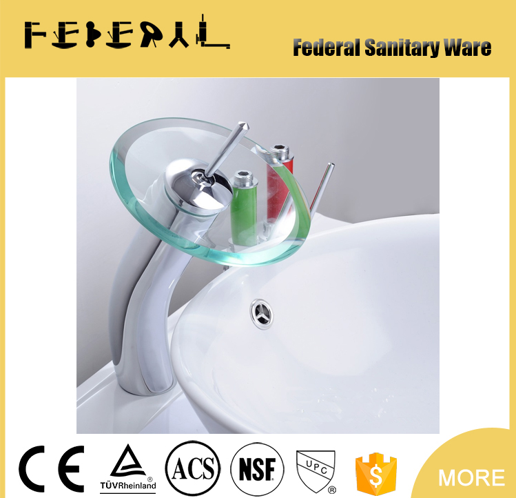 High Quality Led Water Faucet light 7 colors Changing Quick Flashing Shower Stream glow antique upc bathroom faucet
