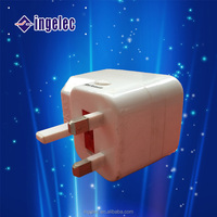 Yiwu factory supply electrical three way input insert plug adapter,travel power changing adapter.