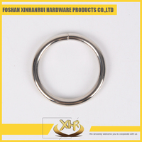 Nickel metal o shaped round ring for bag belt 4.8 ID20mm