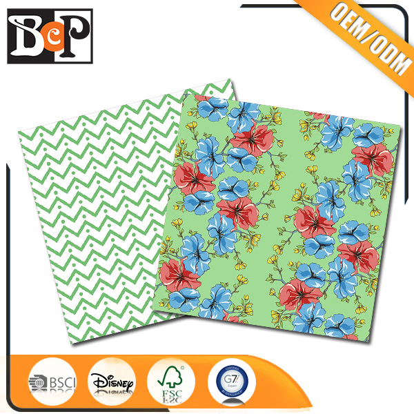 New Custom Gift Paper Flower Wrapping Paper New Product For Scrapbooking