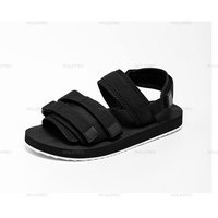 New design summer customize new sport magic sticker comfort men sandals