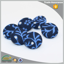 Fashion garment accessories fabric plastic covered shank buttons