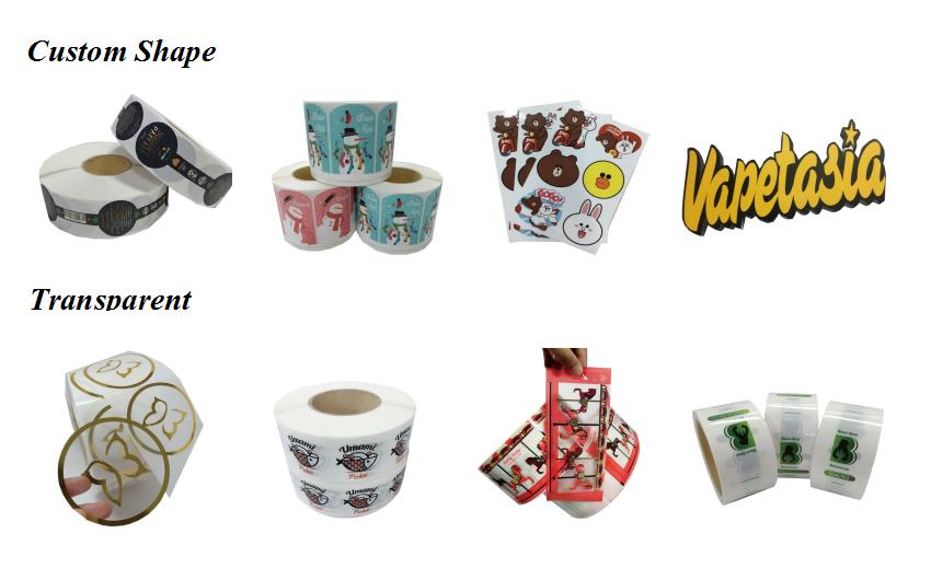 Custom กาวไวนิลสติกเกอร์ครัวเรือนป้ายผลิตภัณฑ์ Die Cut สติกเกอร์การพิมพ์