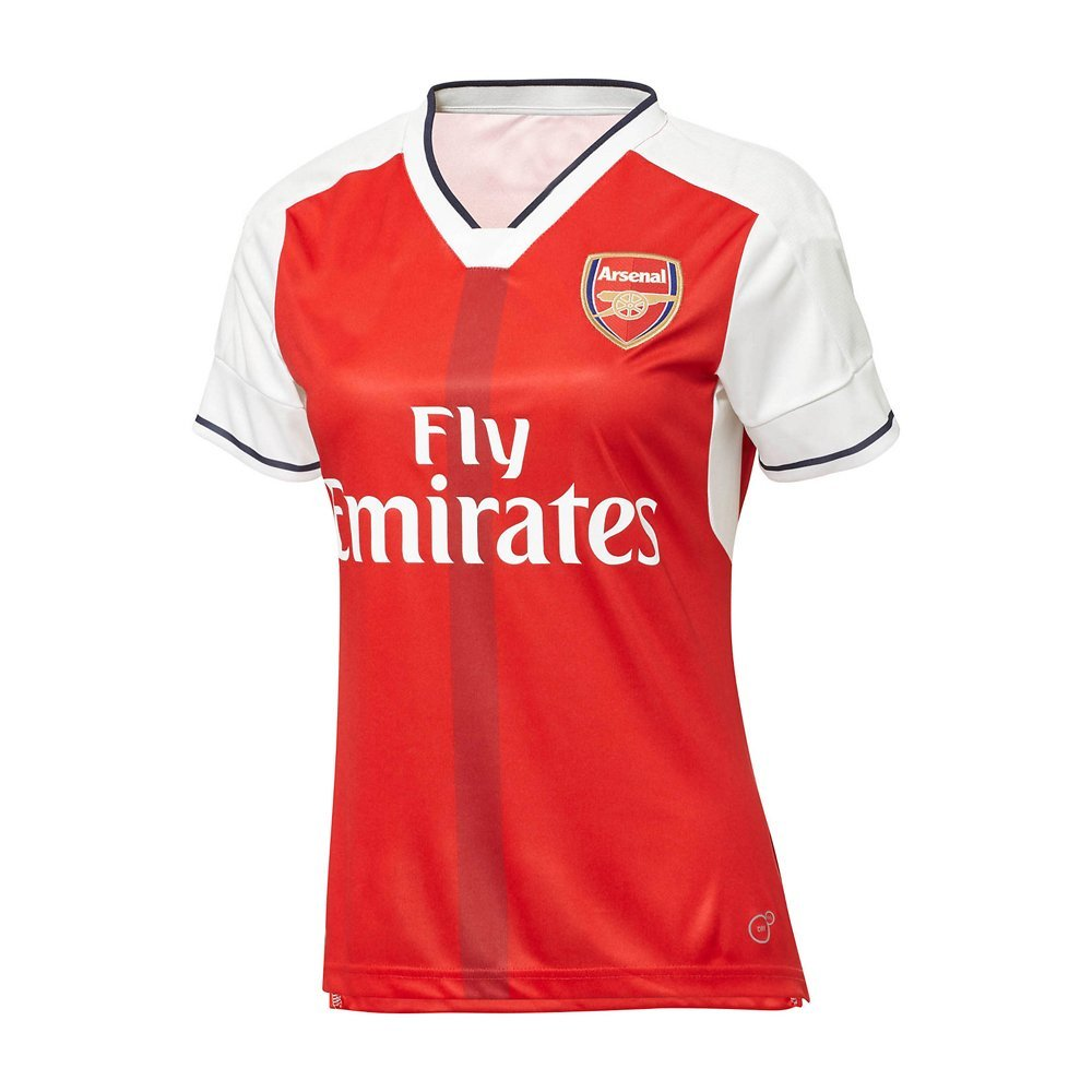 c8f055cfd Get Quotations · 2016 2017 Women s Arsenal Aaron Ramsey Mesut Ozil Olivier Giroud  Home Football Soccer Jersey In Red