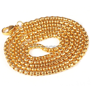 The Latest Fashion 24 K Gold New Model Man Necklace Cheap Wholesale Chain