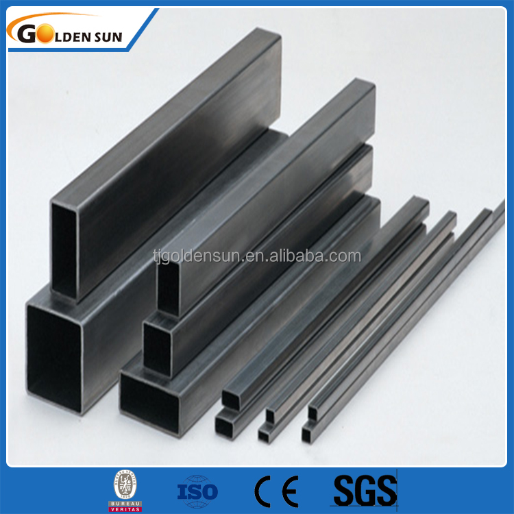 Q345 ISO9001-2008 ERW black iron square pipe from China supplier