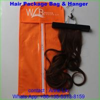 100 percent indian remy human hair package bag and hanger