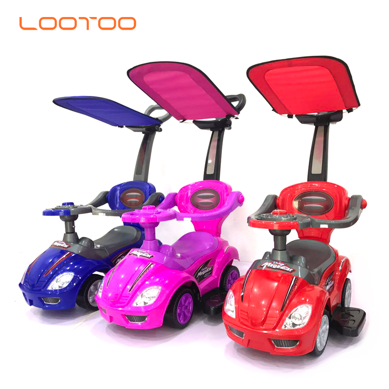 Hot gift 2019 kid rideon cars plastic slide car for baby