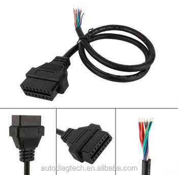 Obdf Open Cable Obd2 Plug Cable To Opening Extension Cable Obd1 Obdii Obd Wiring on