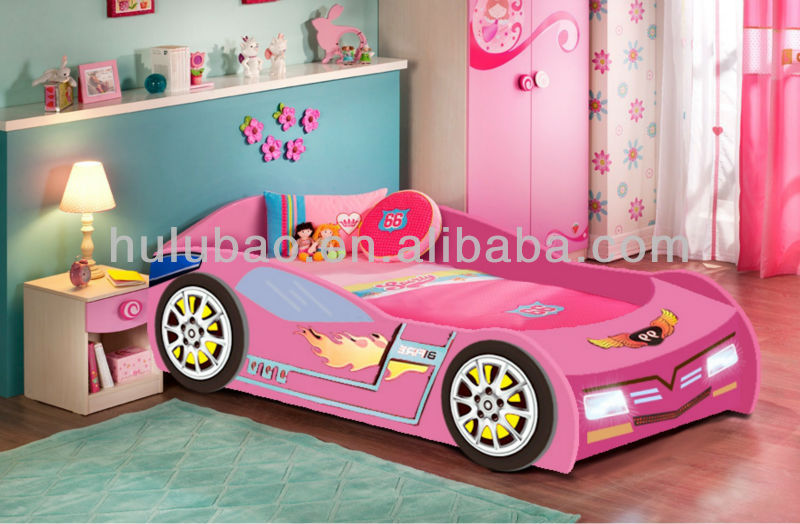 Factory Price Full Size Girl Car Sharp Bed