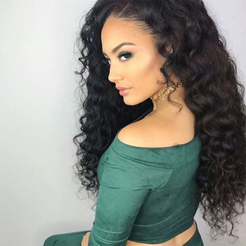 Direct Factory Wholesale Pre Plucked Lace Wigs Deep Wave Lace Front Wig Human Hair