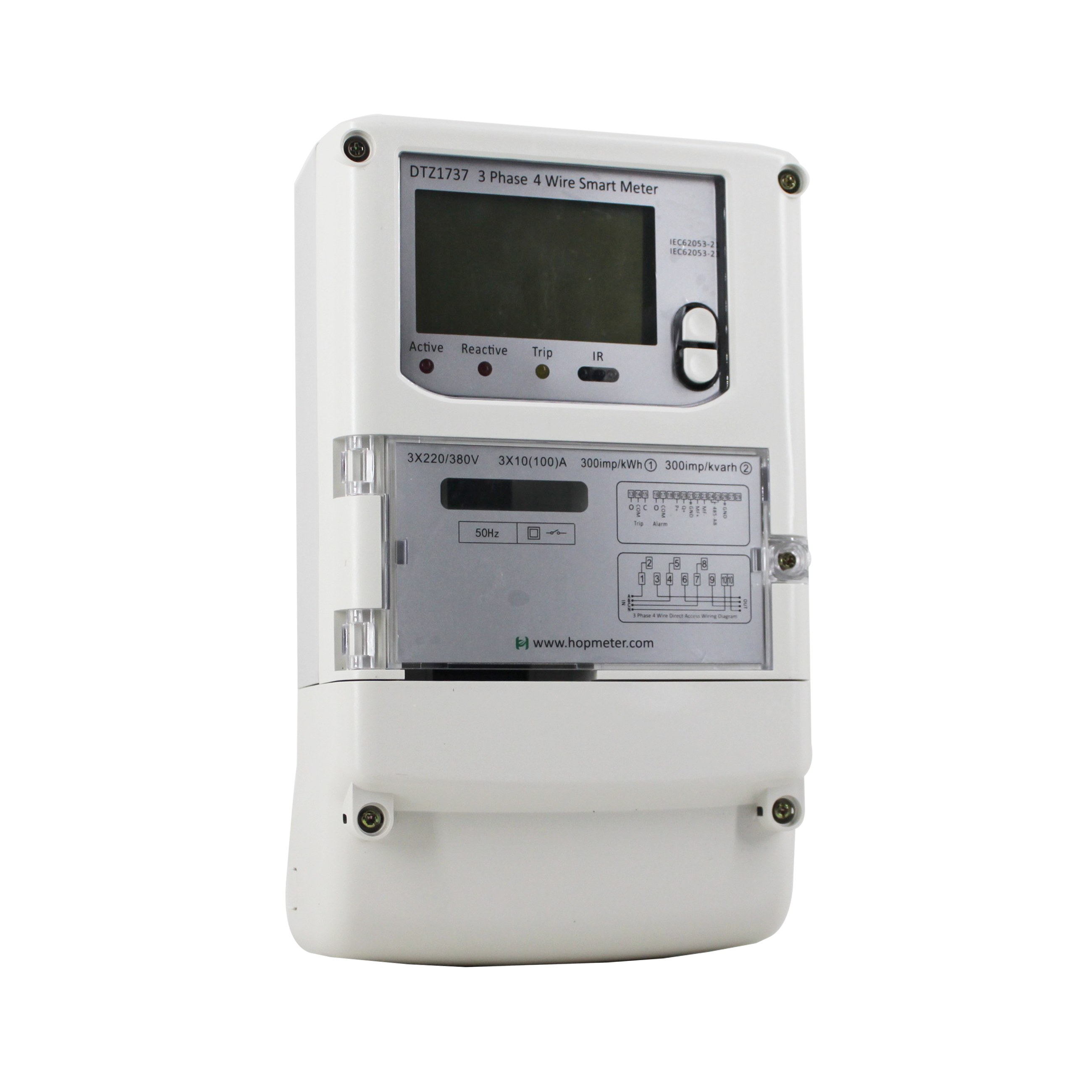 Direct Connection GPRS Wall Mounted Smart Three Phase Wireless Energy <strong>Meter</strong>