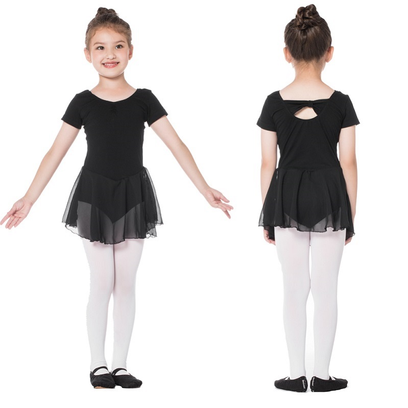Bezioner Kids Short Sleeve Ballet Skirt Leotards фото