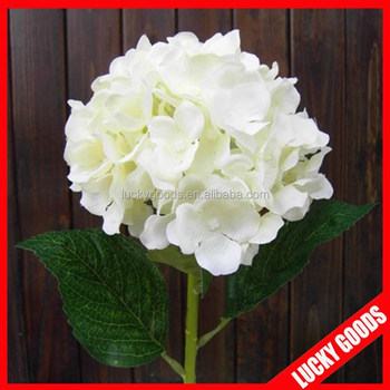 Single stem fashionable pure white silk hydrangea flowers artificial single stem fashionable pure white silk hydrangea flowers artificial mightylinksfo Image collections