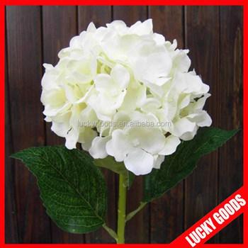 Single stem fashionable pure white silk hydrangea flowers artificial single stem fashionable pure white silk hydrangea flowers artificial mightylinksfo