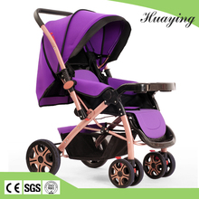 Fashion style reversible handle foldable baby carriage pushchair baby stroller with big wheel