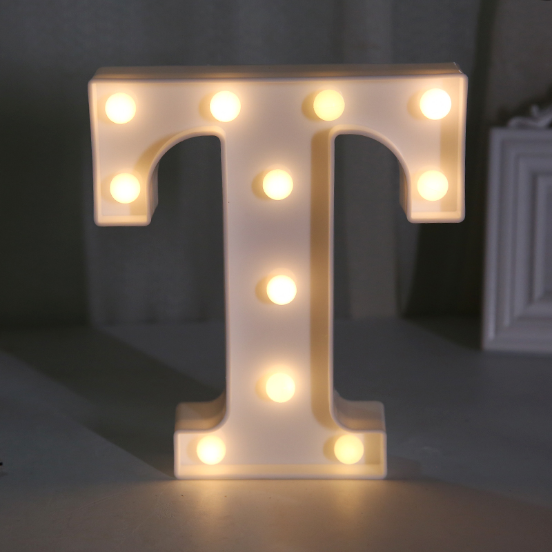Decoration Kids Night Sign Board LED Letters Light