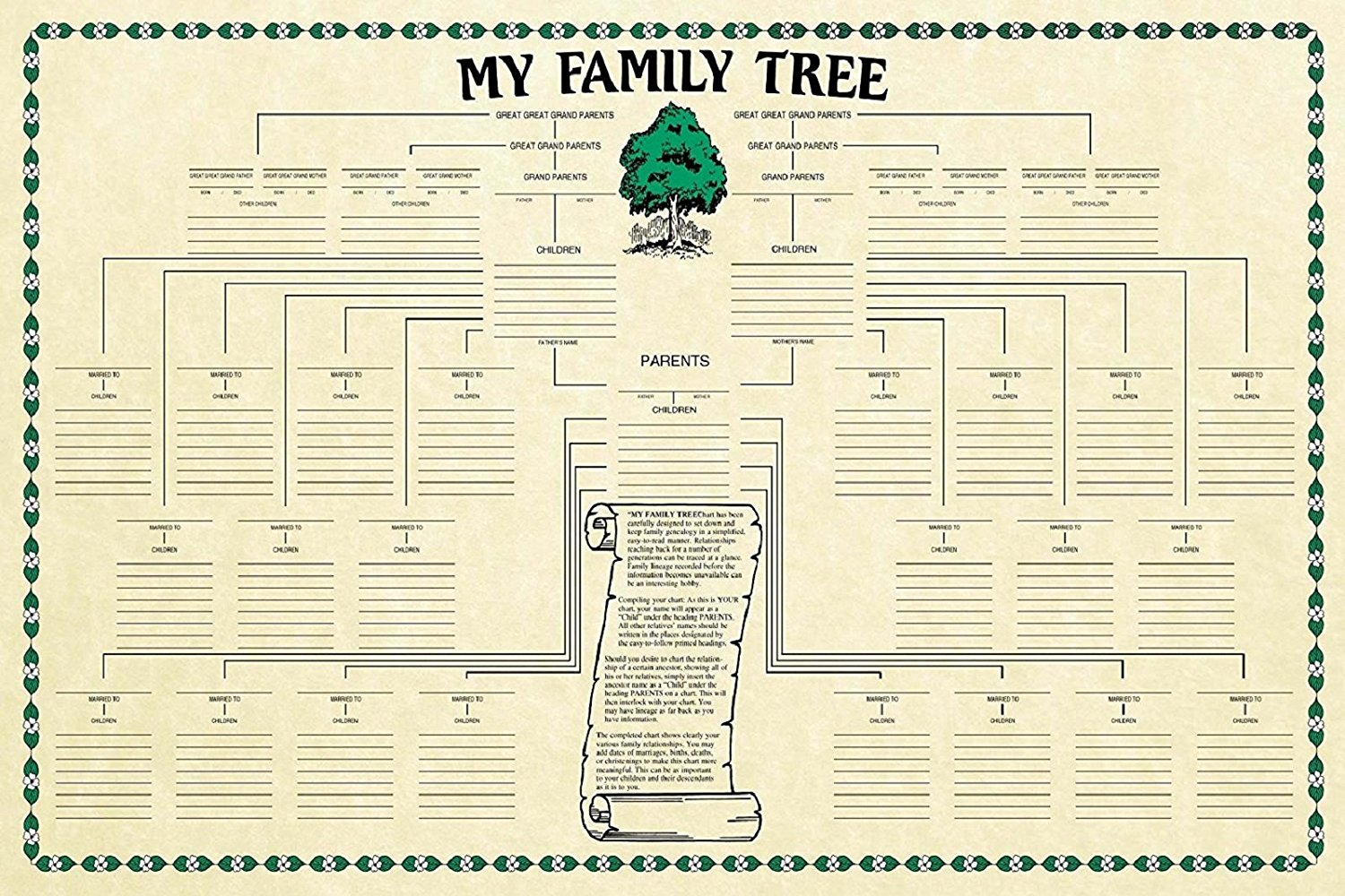 cheap genealogy family tree chart find genealogy family tree chart