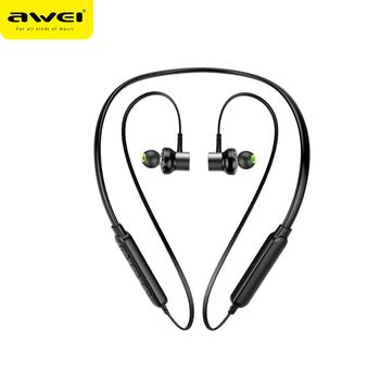 2018 New Arrival cuffie IPX4 Dual Speaker bluetooth headphones neckband