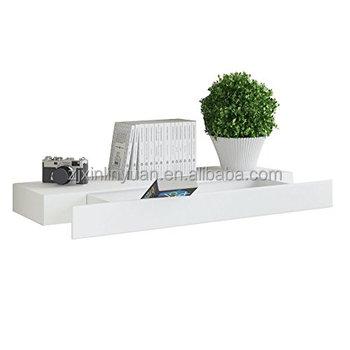 Boekenplank Met Lade.Moderne Mdf Muur Drijvende Plank Met Lade Wit Buy Drijvende Plank
