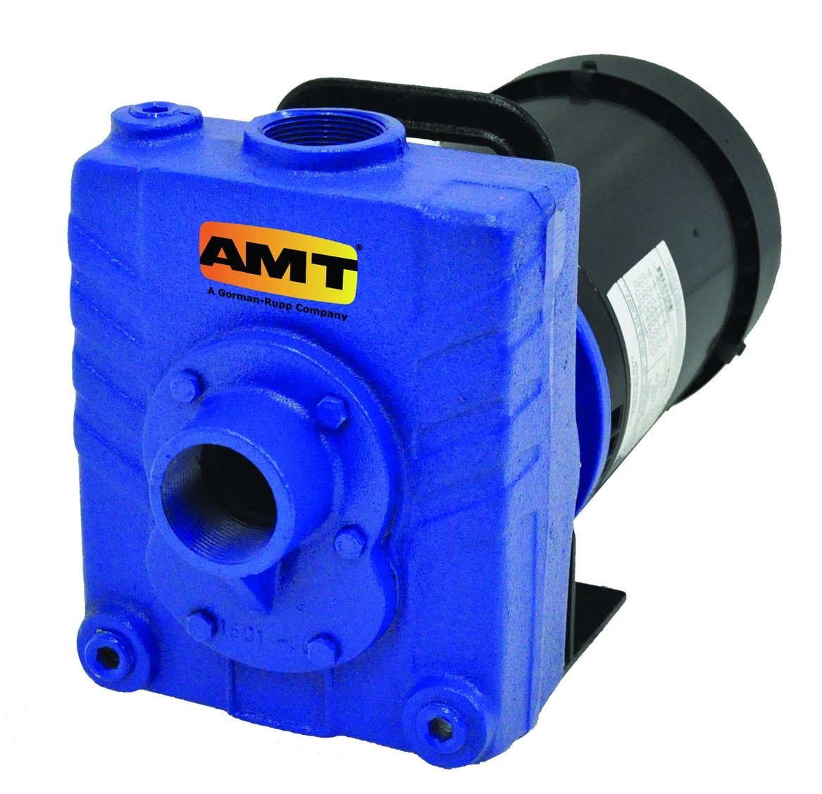 "AMT Pump 282B-95 Self-Priming Centrifugal Pump, Cast Iron, 2 HP, 3 Phase, 230/460V, Curve C, 1-1/2"" NPT Female Suction & Discharge Ports"
