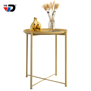 Industrial supply home furniture modern design goods round cold rolled steel metal Iron side table simple coffee table