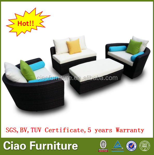 Hot sell outdoor rattan sofa modern patio modular sofa furniture