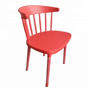 Cheap good quality antique plastic hollow restaurant dining chair