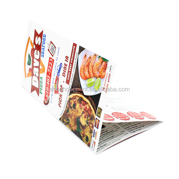 New design a4a5a6 Size matte  laminated folding brochure flyer printing