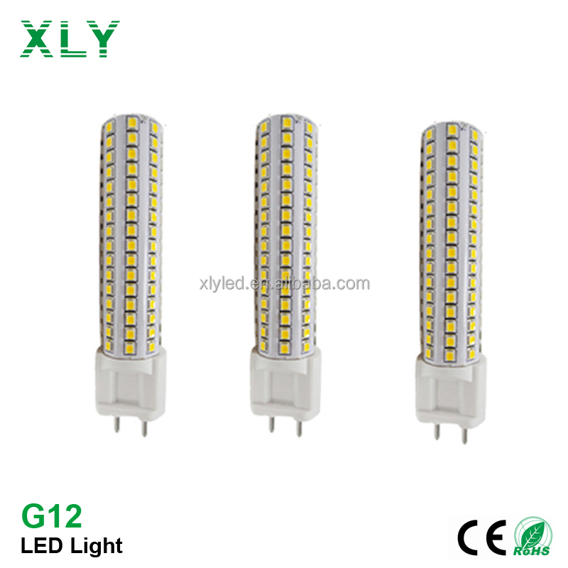15W LED Lamp G12 base 85-265V cdm-t replacement 2835SMD G12 LED Bulb With CRI82 Corn Lights