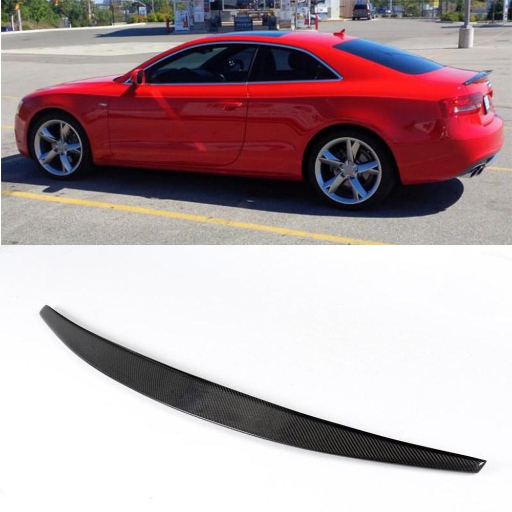 a5 sline style carbon fiber rear trunk boot spoiler wing. Black Bedroom Furniture Sets. Home Design Ideas